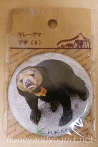 福岡市動植物園 マレーグマ マチ 缶バッジ