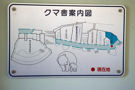 東山動植物園 クマ舎案内図