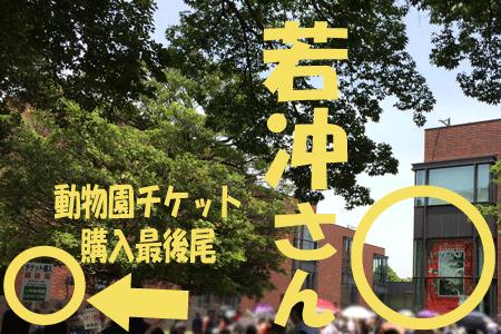 上野動物園 チケット購入列