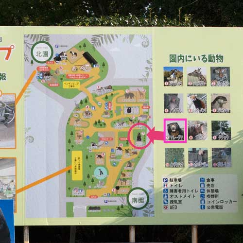 徳山動物園 入口 園内マップ
