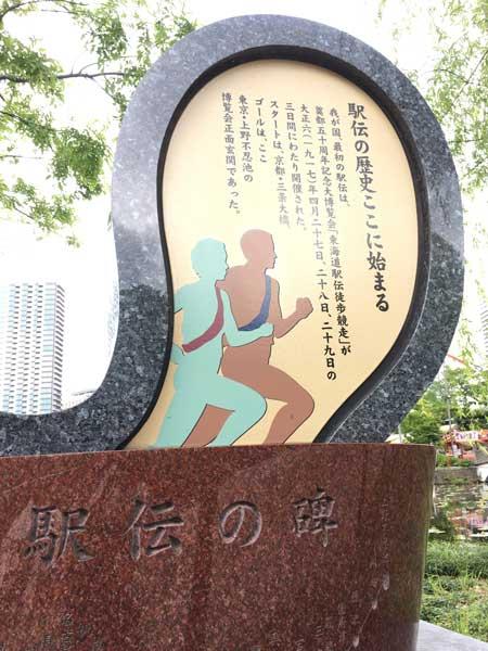 上野 駅伝の碑
